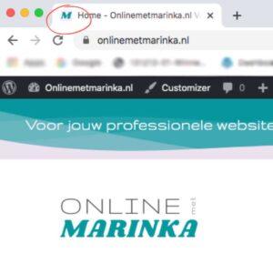 favicon wordpress website online met marinka learndash training website laten maken